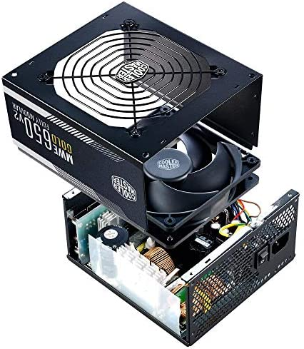 Cooler Master MWE Gold 650 V2 Full Modular, 650W, 80+ Gold Efficiency, 2 EPS Connectors, 120mm HDB Fan, Semi-fanless Operation, 5 Year Warranty