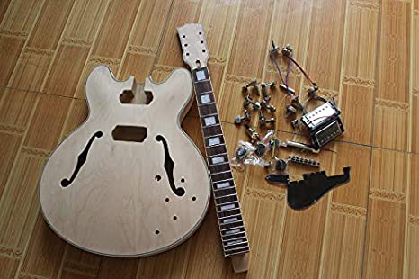 ES-335 Guitarra eléctrica semiacabada, sin pintar, mapa de madera ...