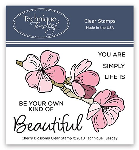 (Cherry Blossoms Clear Stamps | Flowers Rubber Stamps | Photopolymer Stamps | Card Making Supplies )