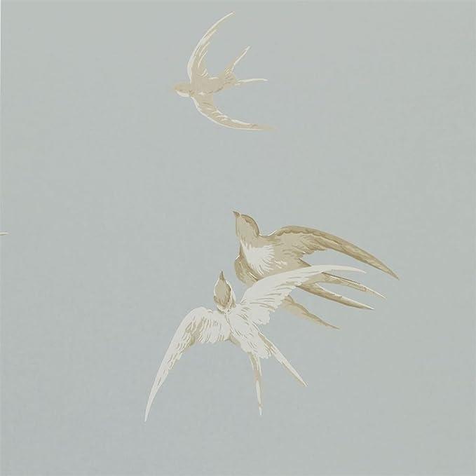 Silver - DVIWSW104 - Swallows - Vintage - Sanderson Wallpaper: Amazon.co.uk: Kitchen & Home