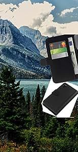 JackGot ( Alaska Mountain Lake ) Sony Xperia Z3 D6603 la tarjeta de Crédito Slots PU Funda de cuero Monedero caso cubierta de piel