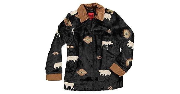 Amazon.com: Negro Montaña Prendas de vestir chamarra de Pelo ...