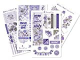 Shades of Purple Sticker Sheet Planner Accessory for The Happy Planner (Roses and Lace_HP Glossy)