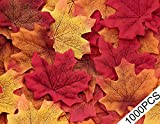 fall table decorations  1000PCS Fall Artificial Maple Leaves Decorations - Thanksgiving Autumn Leaf Wedding Party Table Decor