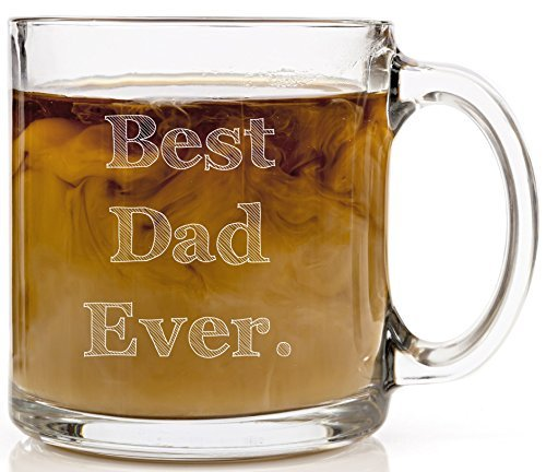 Humor Us Home Goods Best Dad Ever Glass Mug, 13-Ounce