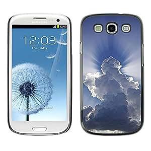 GOODTHINGS ( NO PARA S3 Mini ) Funda Imagen Diseño Carcasa Tapa Trasera Negro Cover Skin Case para Samsung Galaxy S3 I9300 - dios impresionantes nubes inspiradores cielo azul