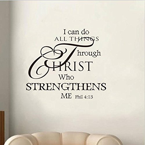 Soledi Wall Decal I Can Do All Things Through Christ Who Import It All