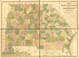 Map: 1839 of Georgia & Alabama exhibiting the post offices, post roads, canals, rail roads & c.; by David H. Burr (Late topographer to the Post Office), Geographer to the House of Representatives of t