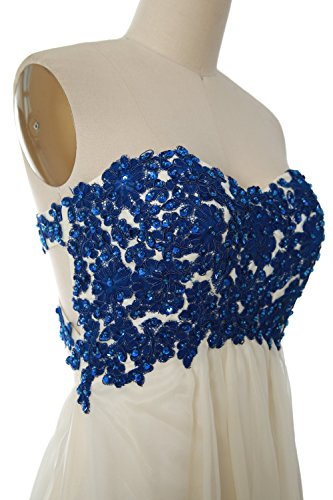 MACloth Women Strapless Short Lace Prom Party Dress Formal Cocktail Evening Gown Marrón