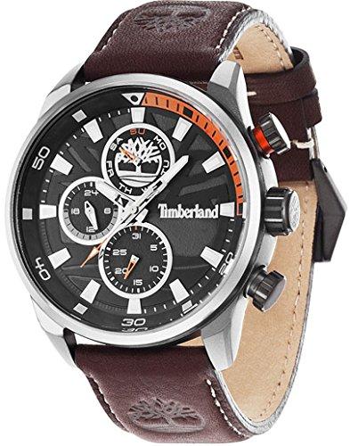Timberland henniker Mens Analog Quartz Watch with Leather Bracelet 14441JLU-02
