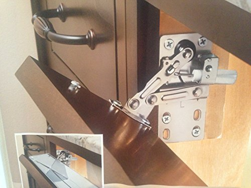 Rev-A-Shelf LD-0220-50SC Pair of Soft-Close Sink-Front Tip-Out Tray Hinges, Zinc