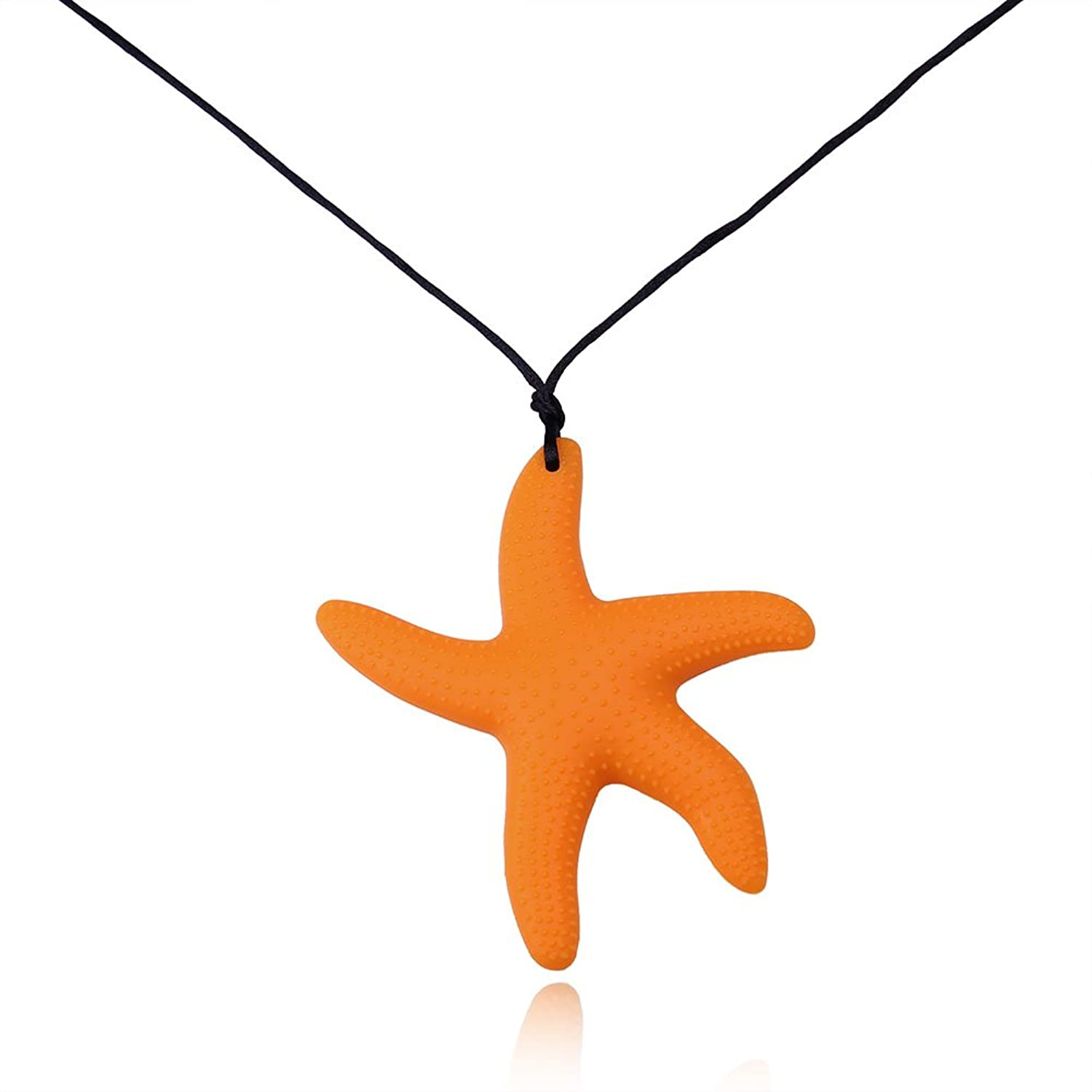 lovely Kalapure Oral Sensory Autism Chew Starfish Pendant Teether