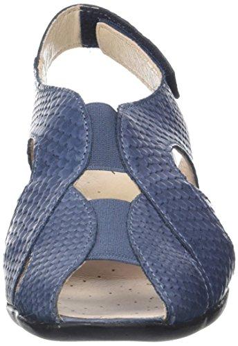 Luxat Femme Sandales Ouvert Bleu Bout Crome bleu v5Iwqrv