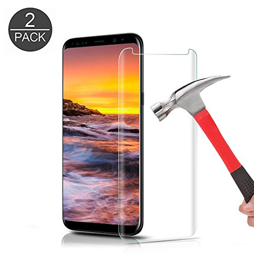 Galaxy S8 Plus Tempered Glass Screen Protector, KMISS [9H Hardness] [Anti-scratches] [Anti-Fingerprint] Premium HD Clear Film Screen Protector for Samsung Galaxy S8 Plus (2 PACK)