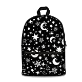 Showudesigns Fashion Star Black School Back Pack for Youth Girls Mesh Bookbag