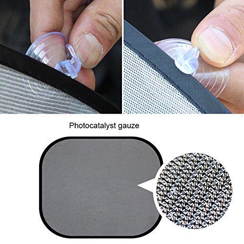 Gaweb Car Sun Shade Car Side Rear Window Screen Sunshade Windshield UV Protection Mesh Cover Visor by Gaweb (Image #7)