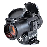 Photo : AT3 LEOS Red Dot Sight with Integrated Laser & Riser - 2 MOA Red Dot Scope with Flip Up Lens Caps