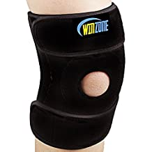 Winzone Knee Support with Adjustable Strapping Breathable Neoprene Sleeve. Meniscus Tear Support, Open-Patella Stabilizer Knee Brace