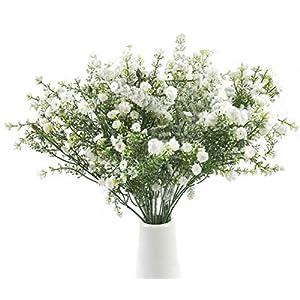 Babys Breath Artificial Flowers Fake Gypsophila for Wedding Home Spring Garden Party Decor 4 Pcs (White) 6