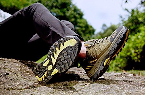Chaussures de Randonnée Outdoor pour Hommes Femmes Basses Trekking et Les Promenades Sneakers Verte Bleu Noir 36-47 3