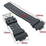 casio gw 1000 - Replacement WATCH STRAP to fit 10347688 CASIO G-SHOCK GA-100 G8900 Black Rubber Resin New Replacement