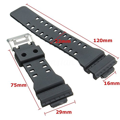 Replacement Watch Strap To Fit 10347688 Casio G Shock Ga 100 G8900 Black Rubber Resin New Replacement