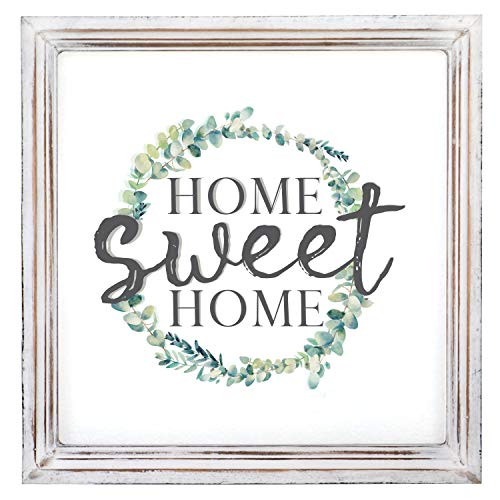 Barnyard Designs Home Sweet Home Sign Rustic Primitive Country Home Decor Framed Wall Sign 13