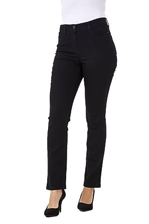 Pantalones vaqueros para mujer - Corte recto - Tejido ...