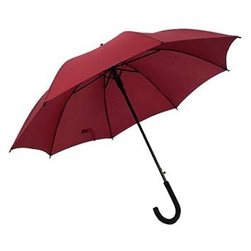 HEIFEN Paraguas de Doble Uso Paraguas Largo 8 Costilla Paraguas de Mango Largo Apertura/Cierre automático Hombres y Mujeres Gran Paraguas a Prueba de Viento ...