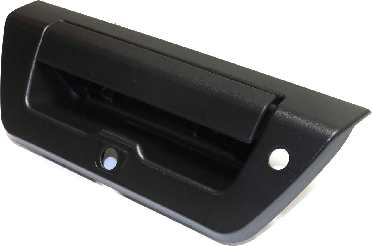 Camera//Key Holes Tailgate Handle Compatible with FORD F-150 2015-2018 Outside Textured Black with and Cable All Cab Types