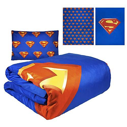JPI Comforter Set Twin - Superman Shield - Twin Bed 86