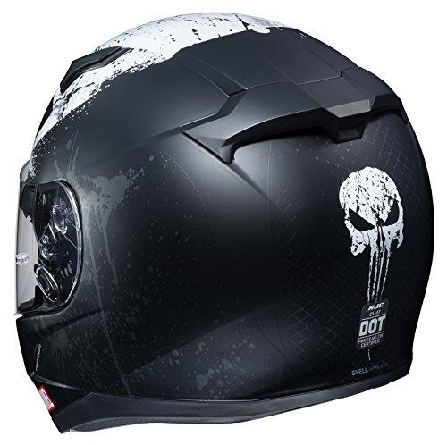 اسعار HJC Marvel Unisex-Adult Full face CL-17 Punisher 2 Motorcycle Helmet (MC-5SF, Medium)