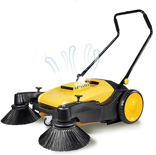 KTops Barredoras Robot Floor Sweeper Limpieza de Gran Alcance y Gran Capacidad de Polvo Caja para el jardín al Aire Libre Patio de acera Almacén Patio Sweeper: Amazon.es: Hogar