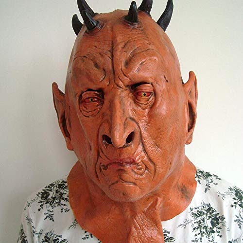 LHJY Halloween Mask Horror Six Corner Mask Role Play of Ox Devil King's Head