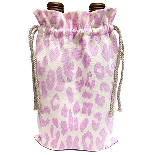 3dRose Patricia Sanders Creations - Cotton Candy Pink Leopard Print Animal Prints Fashion - Wine Bag (wbg_30858_1) (Cotton Candy Liquor)