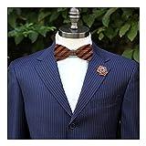 WRISTCHIE Men's Fashion Original Wood Color Pre Tie Wooden Bowtie Creative Present Tuxedo Necktie (Style1)