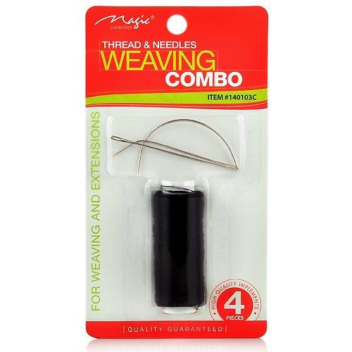 Magic Collection Weaving Combo Thread & Needles Set (1-PACK, BLACK)