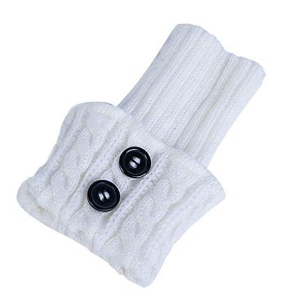 omufipw 1 Pares de Mujeres de Invierno Calentadores de piernas Calientes Botas Cortas Calcetines Calcetines de Ganchillo