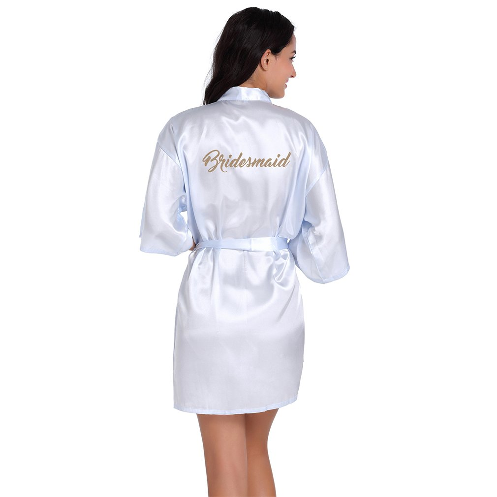 BOYANN Bridesmaid Dressing Gowns Satin Kimono Robe Nightwear For Women ZH5002P0051