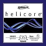 D'Addario Helicore Hybrid Bass Single E String, 3/4 Scale, Light Tension