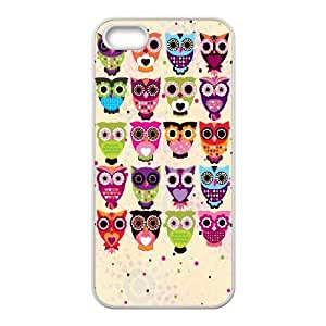 Vintage Owl On Tree iPhone 5 5s Cell Phone Case-White Zvsge