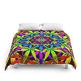 Society6 Stoners' Mandala Cannabis Leaf Art Digital Illustration Comforters Queen: 88'' x 88''