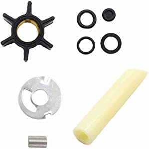 Paddsun Water Pump Impeller Kit For Mercury 4 4.5 7.5 9.8 75 110 Driveshaft 89981T1 89981Q1
