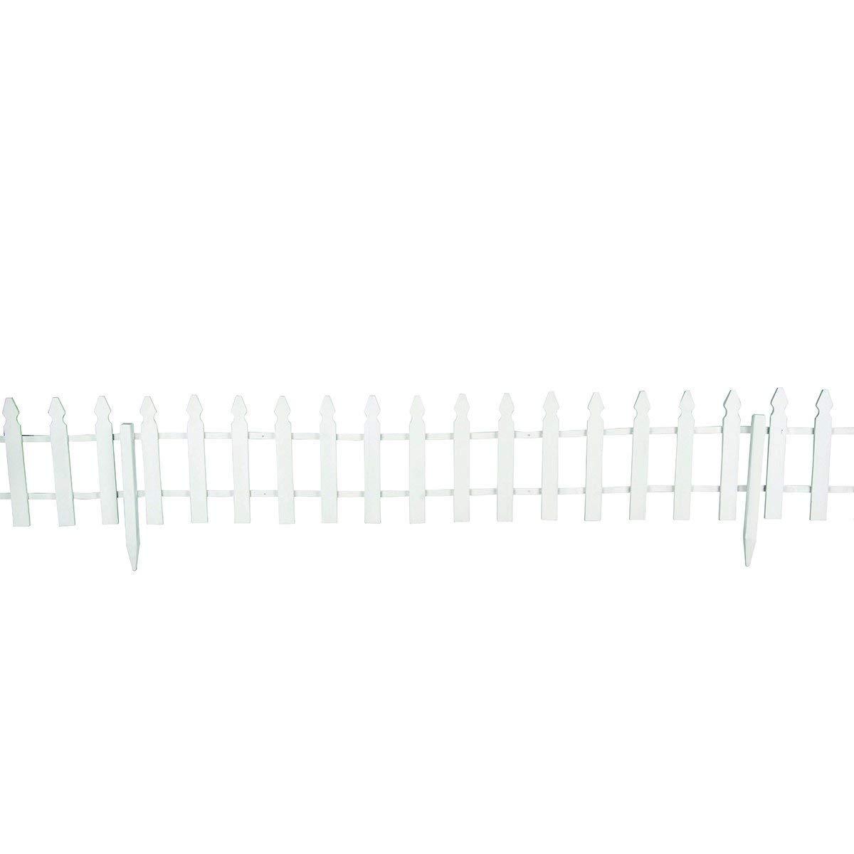 Giantex 12 FT Garden Fence Outdoor Patio Lawn Fencing Outdoor Low Garden Border Edging Fences, White by Giantex