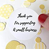 Sweet Thymes 40 Supporting Small Business Sticker | Thank You Round Circle Sticker Favor Bag Gift Label | Envelope Seal Package Christmas