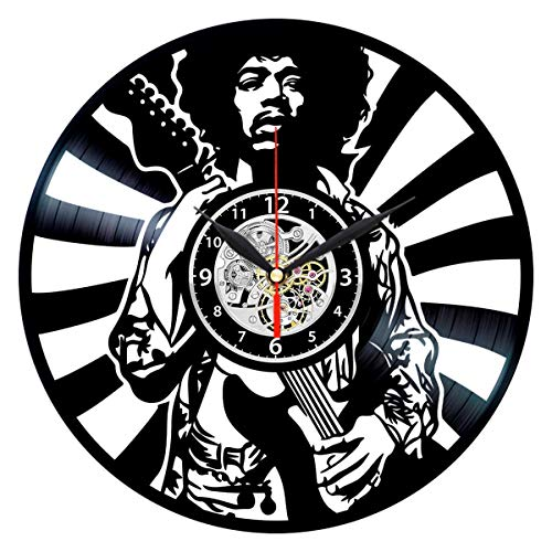 Jimi Hendrix Vinyl Clock - Record Wall Decor - Rock Lovers Gifts