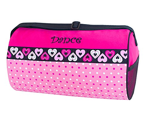 Sassi Designs Dance Duffle with Dots and Hearts