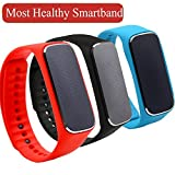 SunMall New Version 37 Degree Smartband Smart Bracelet Fiteness Tracker Meaturing Heart Rate Blood Pressure Mood Pedometer - Three Colors Wristband