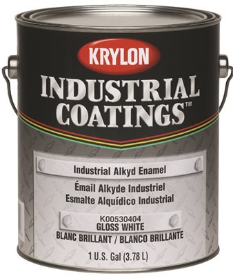 SHERWIN WILLIAMS K00530404-16 White Gloss 1 gallon 53 Series Krylon Industrial Alkyd Enamel - Stain Alkyd