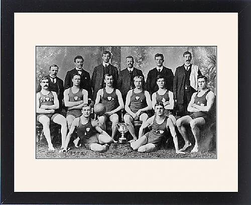 Swimming Edwardian Costumes (Framed Print of Derby Water Polo)